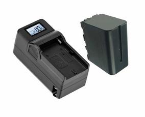 Carregador Lcd + Bateria Np-f970 Para Sony Bc-v615, Ccd-sc5