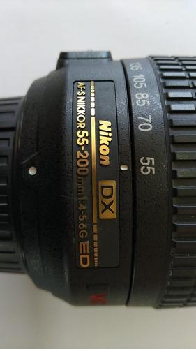 Imagem 1 de 5 de Lente Nikon 55-200mm Af-s Dx F/4-5.6g Ed Vr Excelente Estado