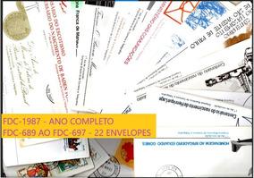 1987 - Fdc Ano Completo - 22 Envelopes