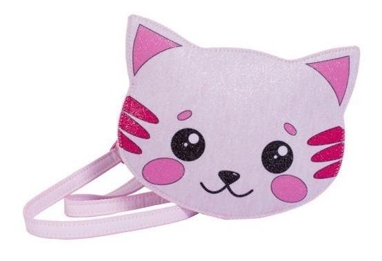 Bolsa Infantil Princesa Pink Bolsa Gato Gliter
