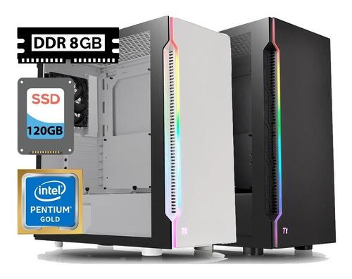 Pc Gamer Intel 3.5ghz, Ssd 120gb, 8gb Ddr, H200 Rgb, 500w