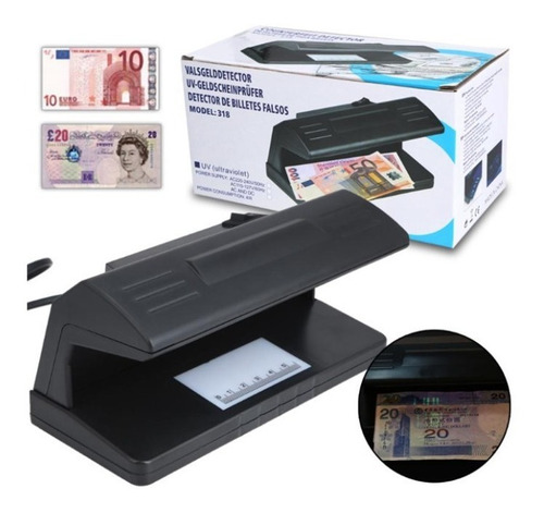 Maquina Detector Probador Revisar Billetes Dinero Falsos