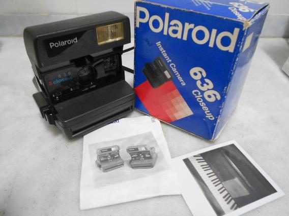 Polaroid 636 Close-up Na Caixa Com Manual - Perfeita !