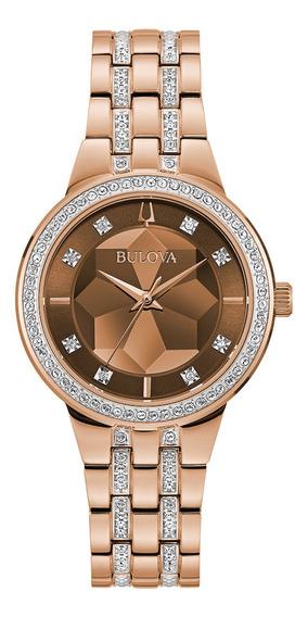 Relógio Feminino Bulova Crystals Aço Rosegold 98l266