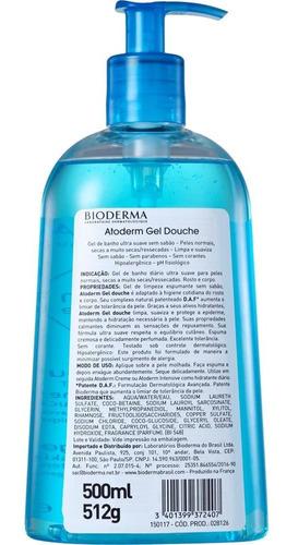 Imagem 1 de 2 de Atoderm Gel De Ducha E Banho Bioderma 500 Ml -envio 24 Horas