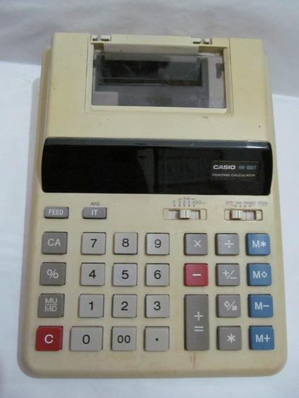 Calculador Elétrica Casio Desk Top Printing Hr-100t Arte Som
