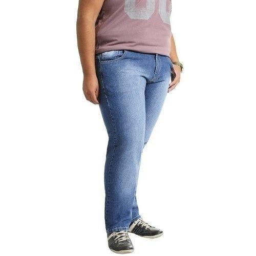 Calça Jeans Kit 3 Pçs Lycra Masculina 46/48/52/54