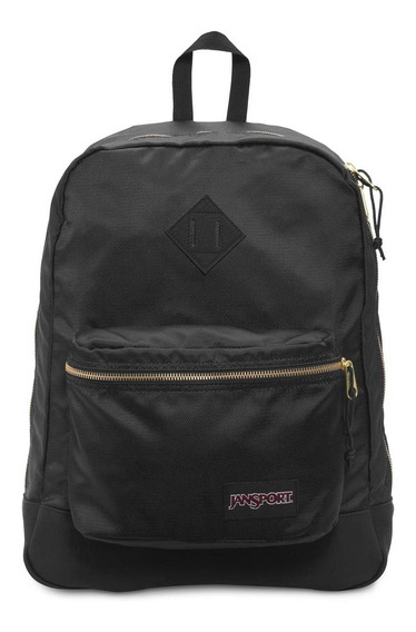 Zonazero Mochila Jansport Super Fx Black Gold Original