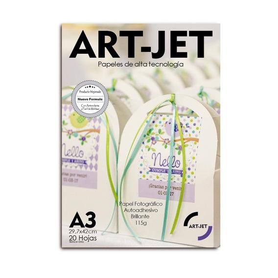 Papel Fotografico Autoadhesivo Glossy Art-jet® A3 X100 Hojas