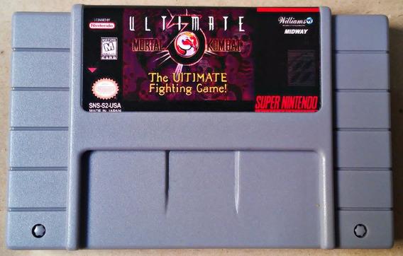 Jogo Ultimate Mortal Kombat 3 Iii Super Nintendo Snes Fita