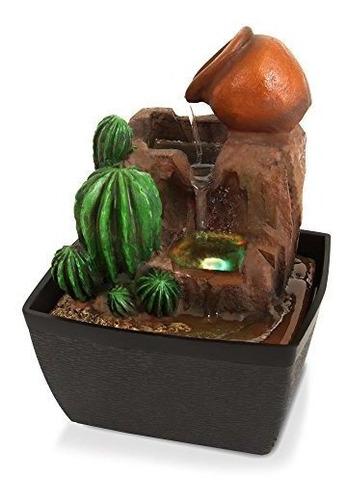 Fuente De Agua Con Bomba Y Luces Led, Decorativa