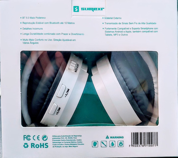 Fone De Oiuvido Sem Fio (sly-10) Headfone Estéreo Bluetooth