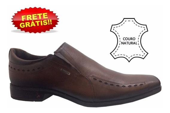 Sapatênis Sapato Pegada Masculino Telha Em Couro 124204
