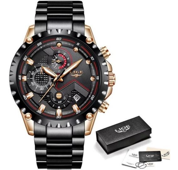 Relógio Lige Luxo Original A Prova D`agua 100% Funcional