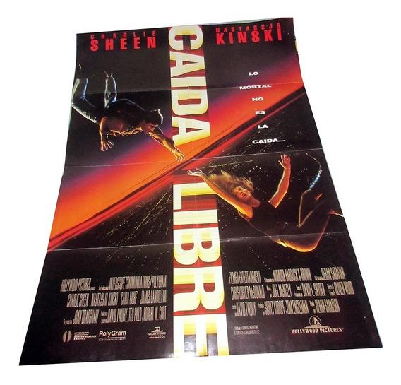 Caida Libre Poster Doblado De Cine