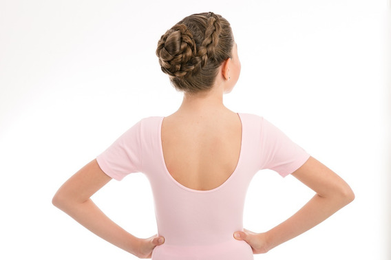 Kit Ballet Balé Uniforme - Collant C/ Saia Meia Sapatilha