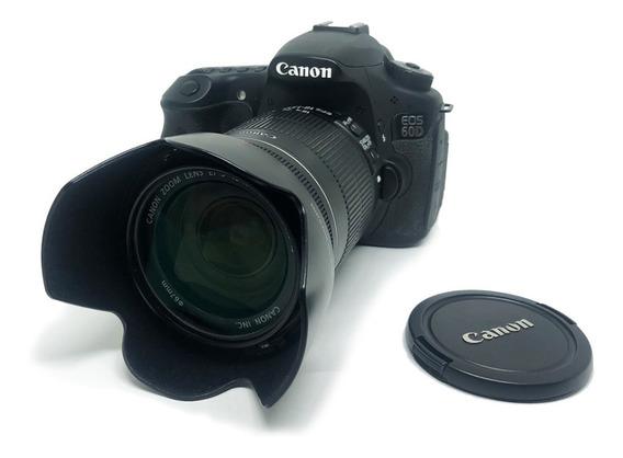 Câmera Dslr Canon60d C/grip, Lente 18-135 3.5 + Case