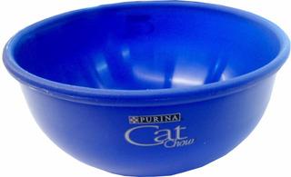 Comedero Gato Cat Chow Azul Original 13x6 Cm Plastico Rz1013