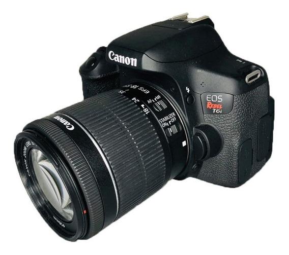 Câmera Canon Rebel T6i C/ 18-55mm Stm Semi Nova Perfeita