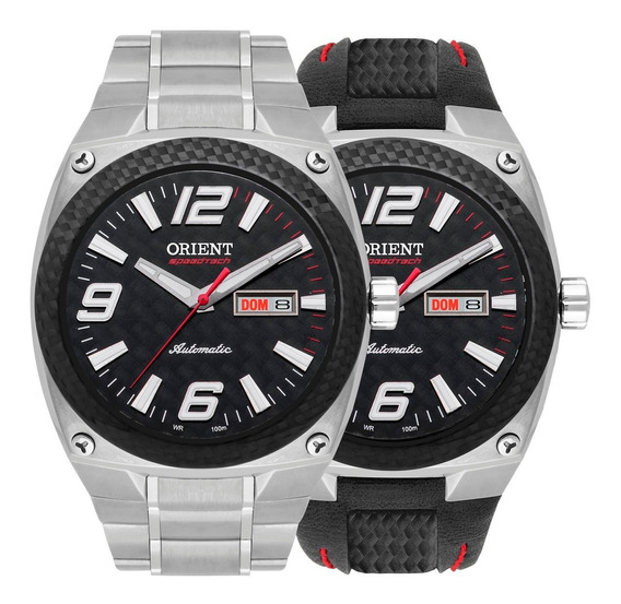 Relógio Orient Automático Masculino Speedtech 469ft001 P2sx