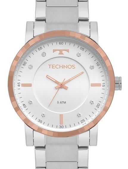 Relógio Technos Feminino Trend Prata/ Rose Gold