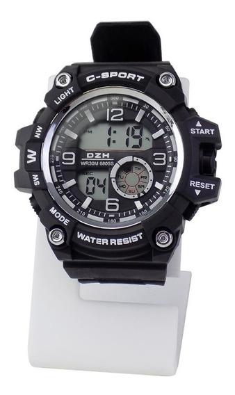 Relógio Masculino Digital Borracha Original Prova D\
