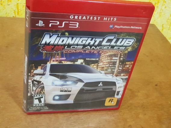 Midnight Club Los Angeles Complete Edition Usado Ps3 Mídia F
