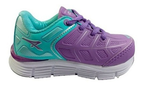 Zapatillas Para Niña Athix Aqua/lila