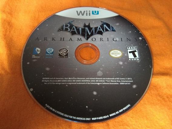 Batman Arkham Origins - Wiiu Só O Disco !!