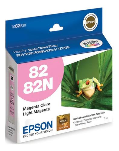 Imagen 1 de 5 de Cartucho Original Epson T082 Magenta Claro T082620 R270 T50