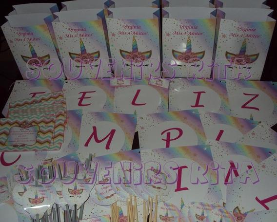 Promo Cotillon Infantil Bolsitas Unicornio X 20 Invitados