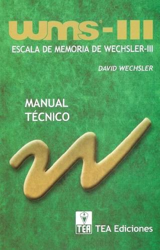Wms Escala De Memoria De Wechsler 3 Mercado Libre