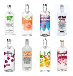 Vodka Absolut Sabores 1litro Sueca Original Sabor Importada