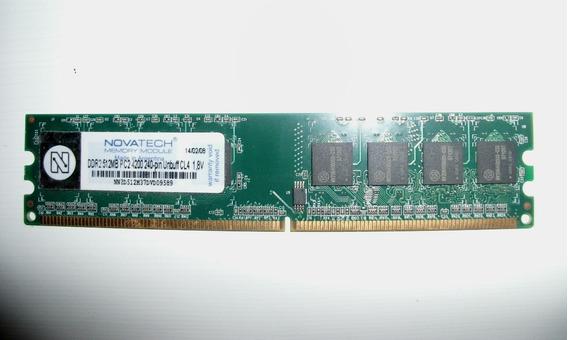 Tarjeta De Memoria Ram Novatech Ddr2 512mb Pc2 4200 240 Pin