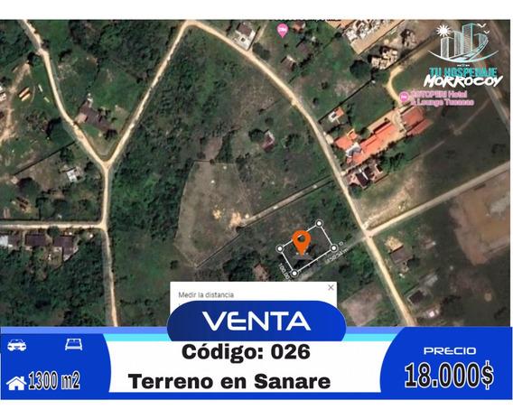 Terreno Vacacional En Venta En Tucacas Morrocoy