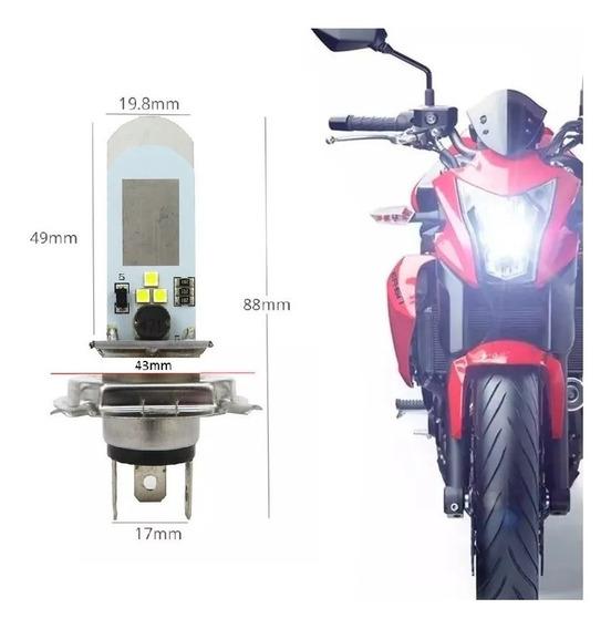 Lampada Led H4 H7 6000k Moto / Carro / Caminhão Super Branca Automotiva Ultra 12v 24v