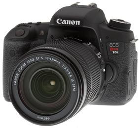 Câmera Canon Eos Rebel T6s (760d) + Cartão 32gb + Bolsa