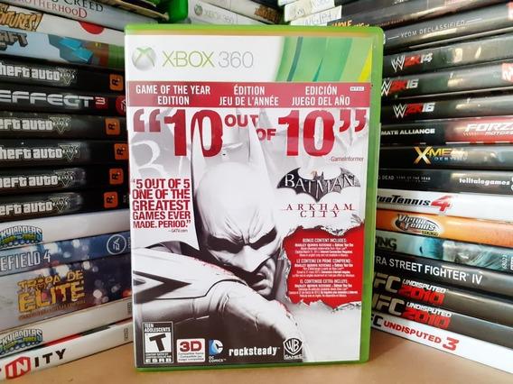 Jogo Batman Arkham City Edição Jogo Do Ano Xbox 360 Original