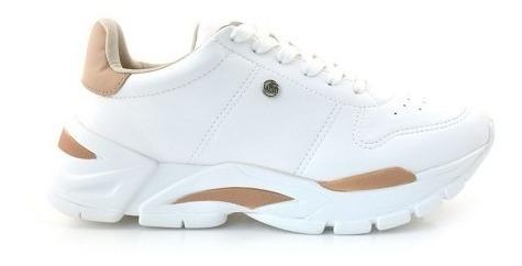 Zapatillas Mujer Blancas Vía Marte 19-3454 Importadas