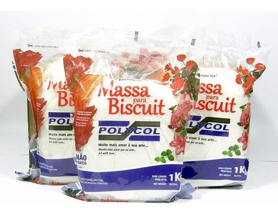 Massa De Biscuit Natural 10kg Polycol
