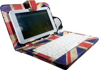 Capa Case Com Teclado Para Tablet 7 Polegadas Com Apoio Usb