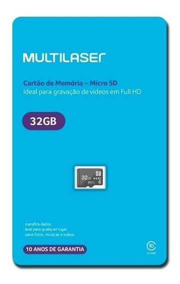 Cartão De Memória Classe 10 32gb Multilaser - Mc145