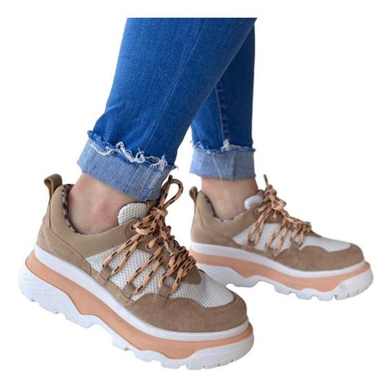 Tênis Feminino Farm Nude Chunky Sneaker Plataforma - B M