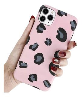 Funda Leopardo Flexible Ligera Suave Ergonómica Para iPhone