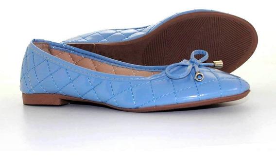 Sapatilha Laysa Metalasse Azul Bebe - 50317