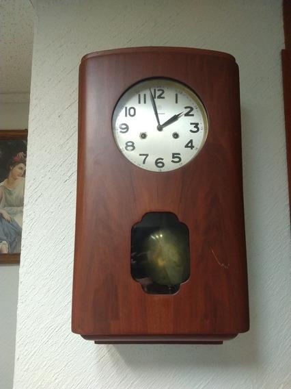 Reloj Antiguo De Pared Maquinaria Alemana 2 Cuerdas.