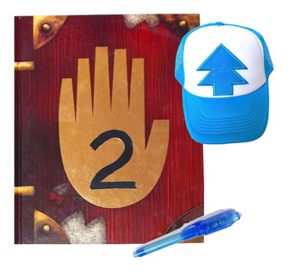 Gravity Falls Diario 2 + Gorra Dipper + Pluma Tinta Invisibl