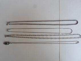 4 Colar Corrente Prata Bali Todas Tem 23 Gramas 56 Cm 28