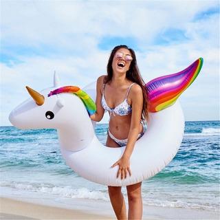 Boia Divertida Gigante Piscina Unicornio Adulto Flutuante