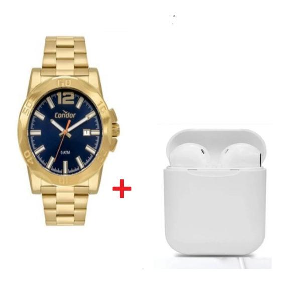 Relógio Condor Masculino Co2415bp/4a Com Brinde Fone Sem Fio